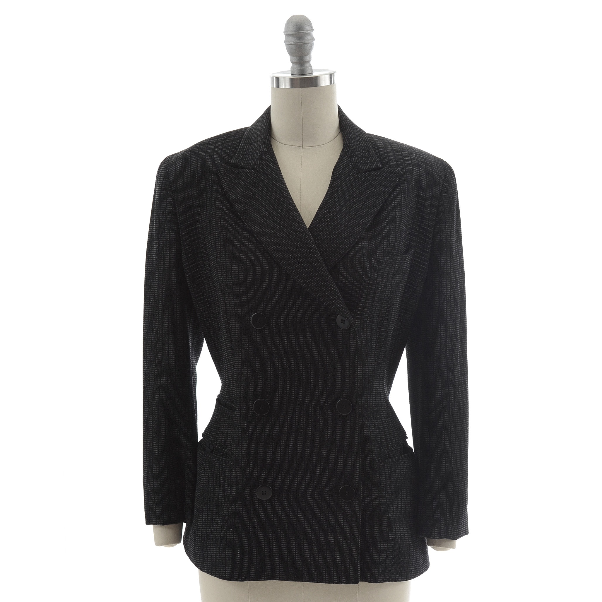 Donna Karan of New York Double Breasted Wool Blazer