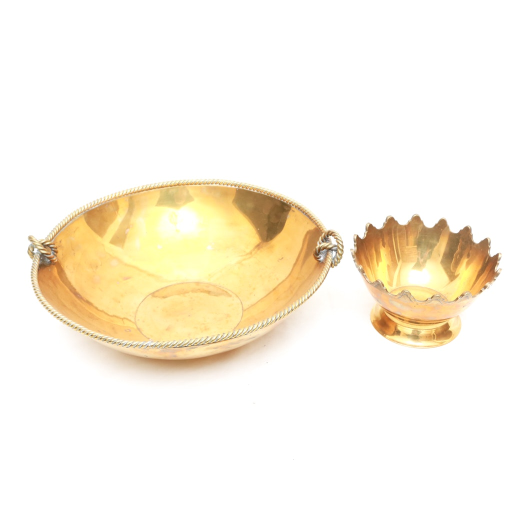 Brass Bowl and Small Brass Bowl