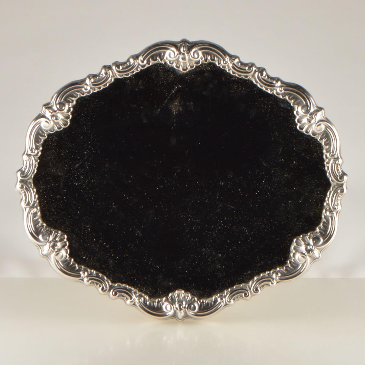 Camusso Sterling Silver Antique Vanity Mirror
