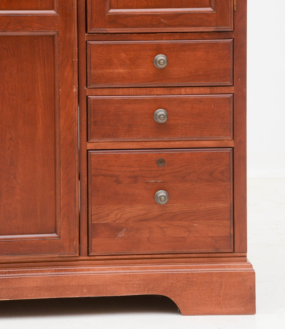 Cherry Computer Cabinet By Hooker Furniture Ebth