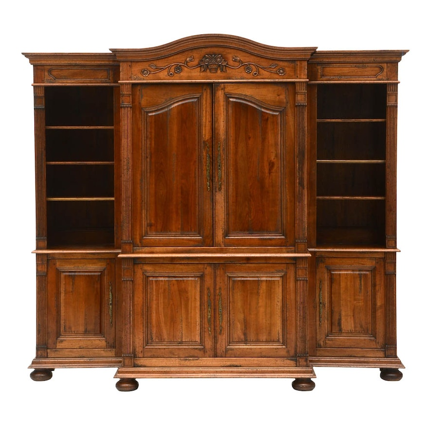 english traditions carved french armoire entertainment. Black Bedroom Furniture Sets. Home Design Ideas