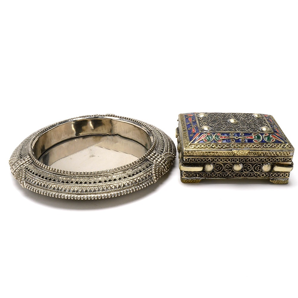 Decorative Moroccon Box and Ash Receiver