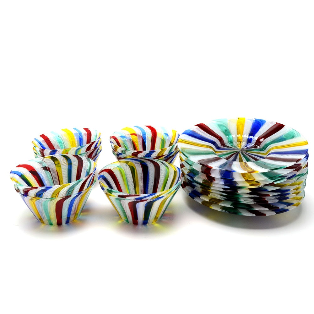 Murano Art Glass Bowls and Plates