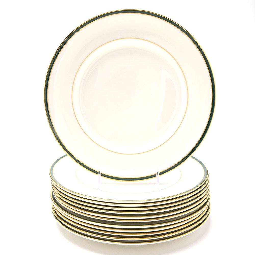 "Royal Doulton ""Oxford Green"" China Dinner Plates"