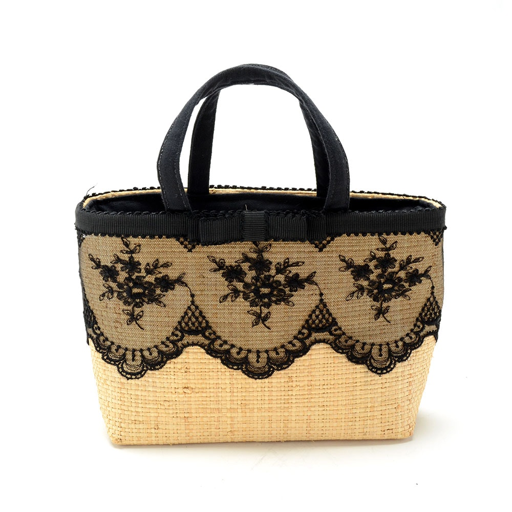 Woven Raffia Angelica Accessories Tote