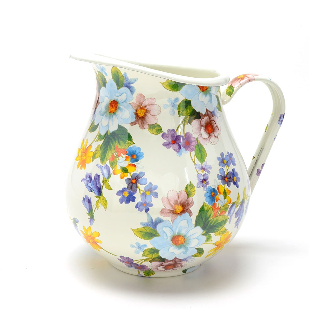 "MacKenzie Childs ""Flower Market"" Enamel Pitcher"