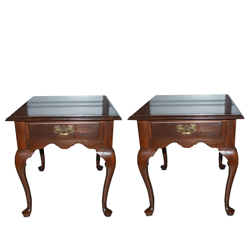 Ethan Allen Queen Anne Style End Tables