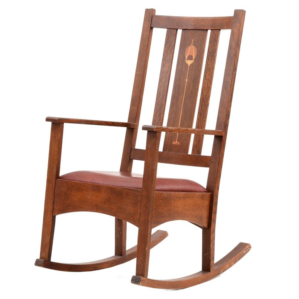 Merveilleux Stickley Mission Rocking Chair ...