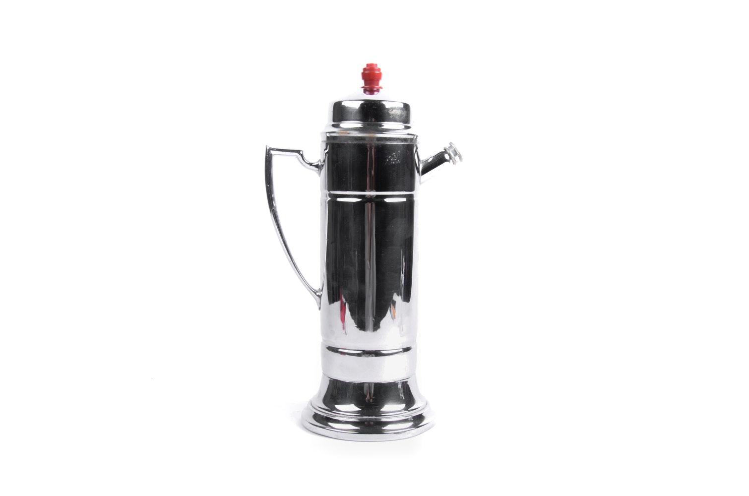 Chrome Finish Coffee Pot