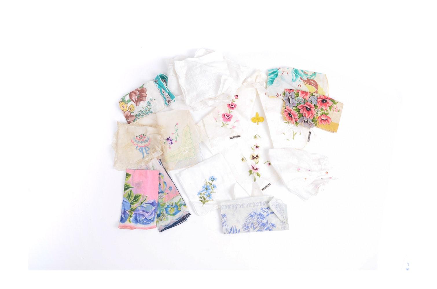 Vintage Floral Handkerchief Collection