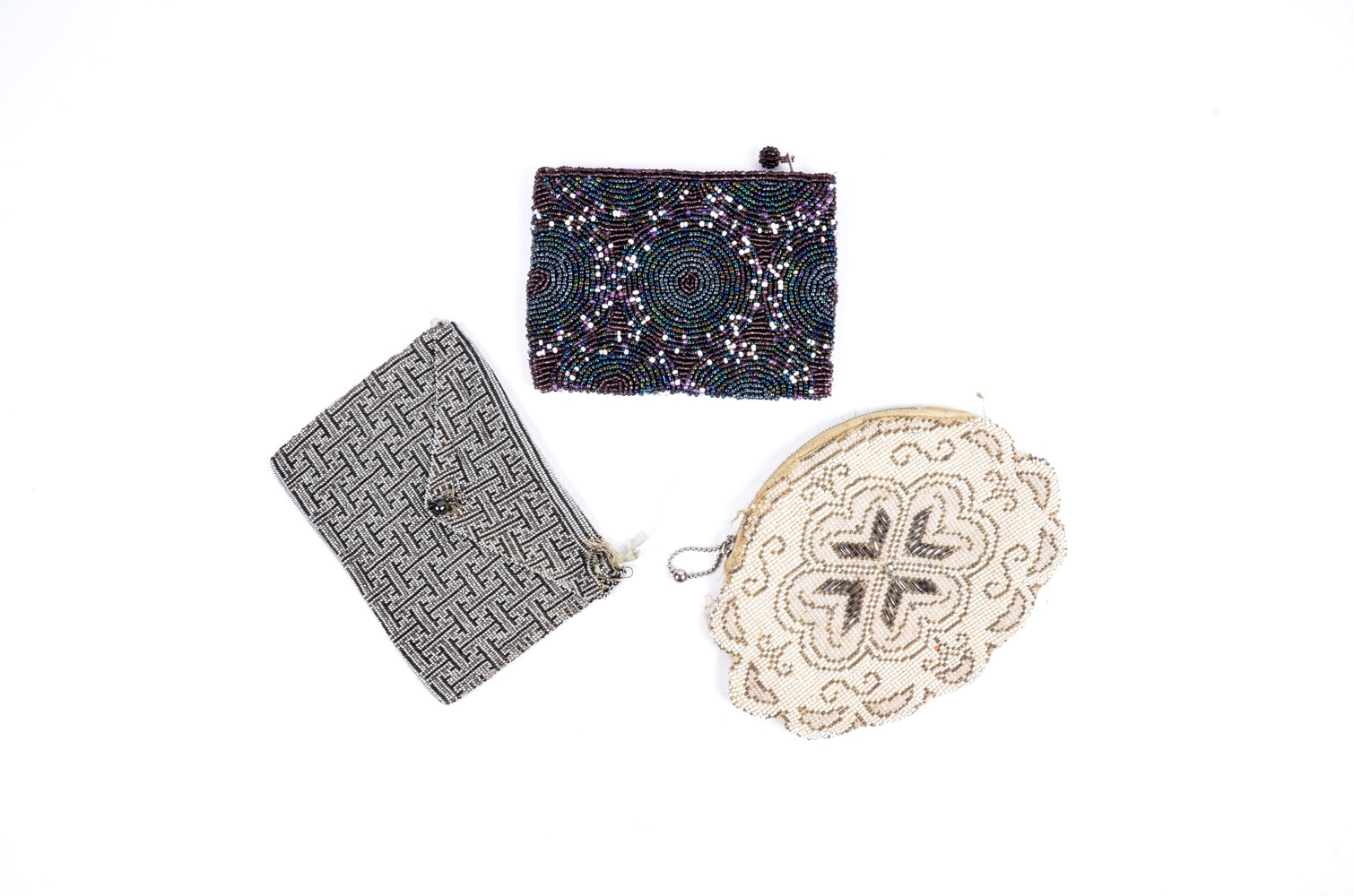 Set of Beaded Clutches