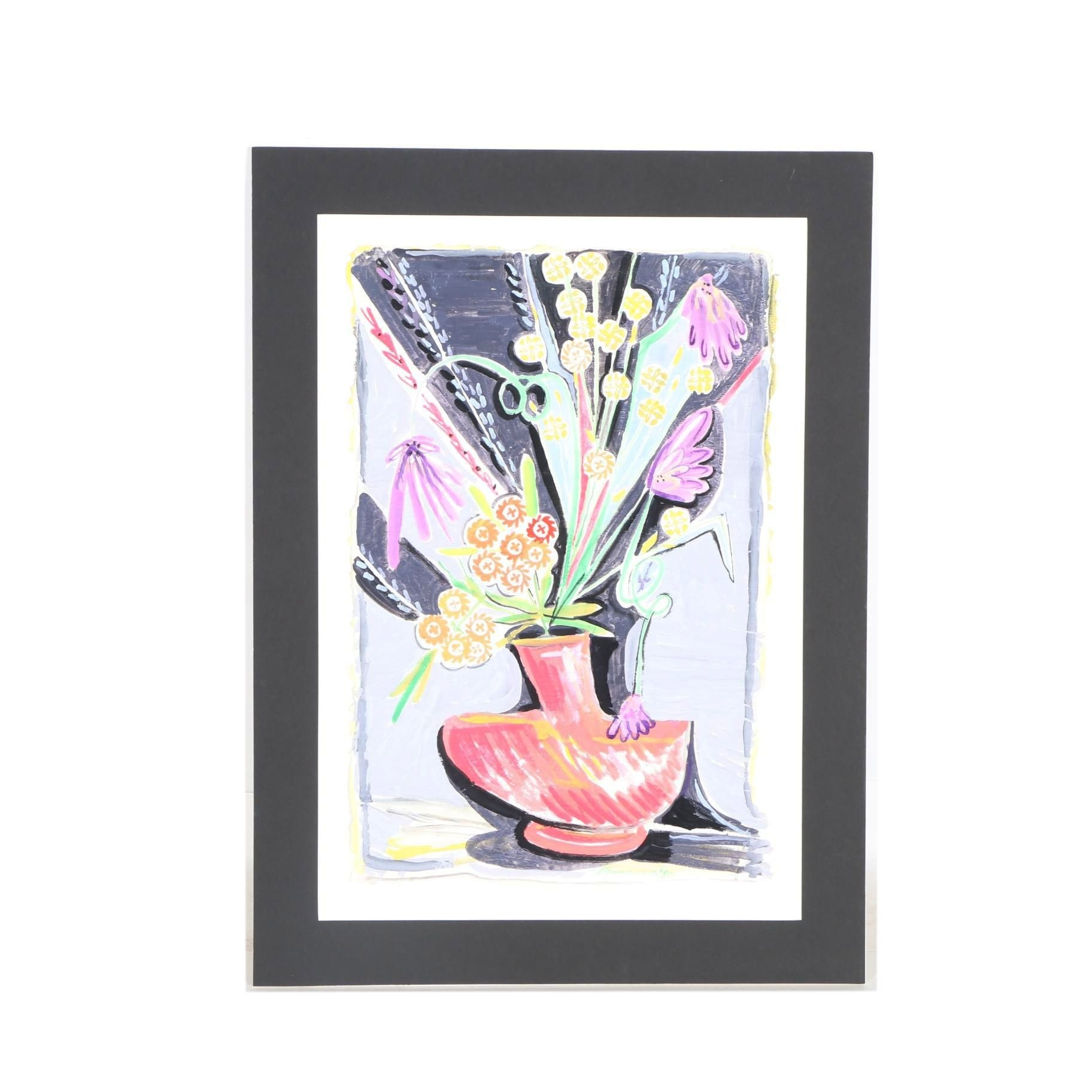 Robert Lohman Original Watercolor Still Life