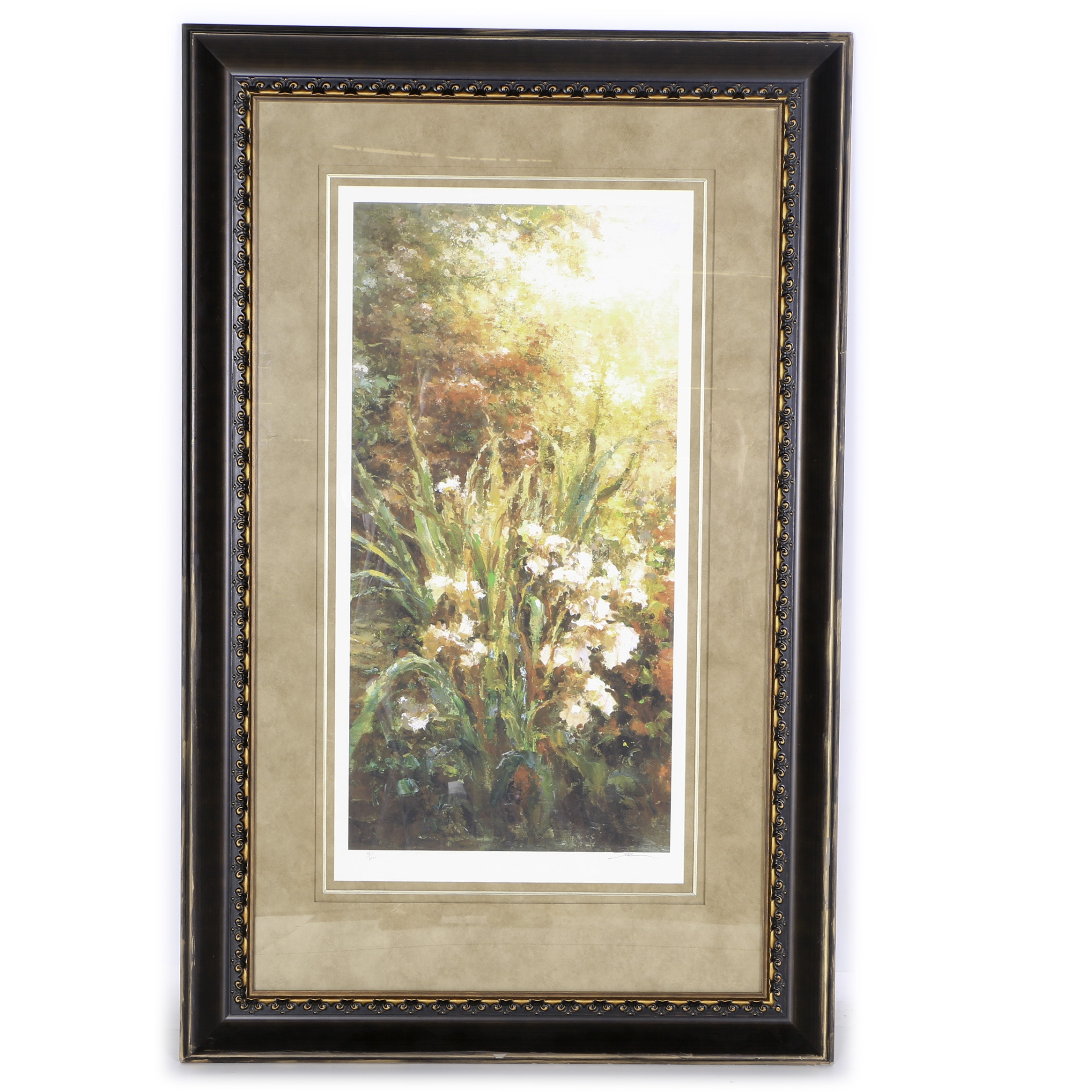 """M. Solz Signed Limited Edition Giclee Print """"Monarch Blooms 3"""""""