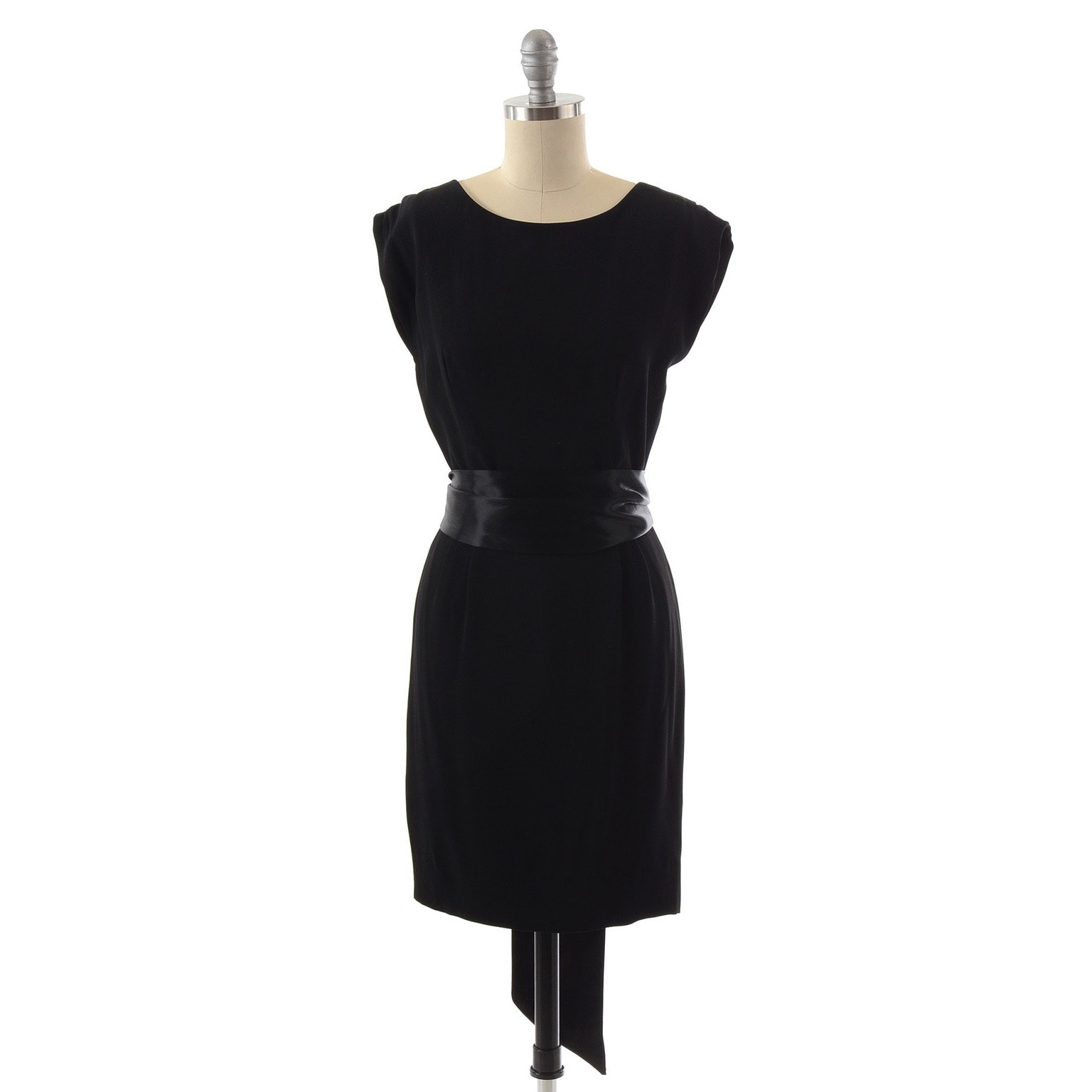 Ralph Lauren Black Sleeveless Cocktail Dress with Black Satin Tie Belt