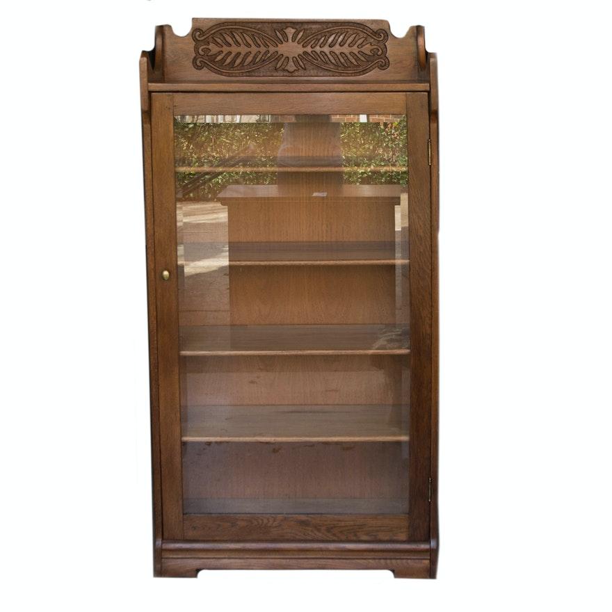Antique Glass Door Bookcase ... - Antique Glass Door Bookcase : EBTH