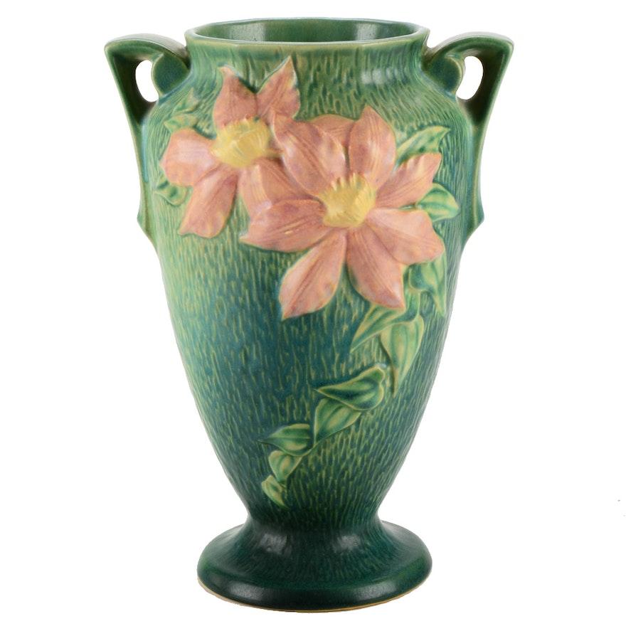 1944 Roseville Clematis Vase Ebth