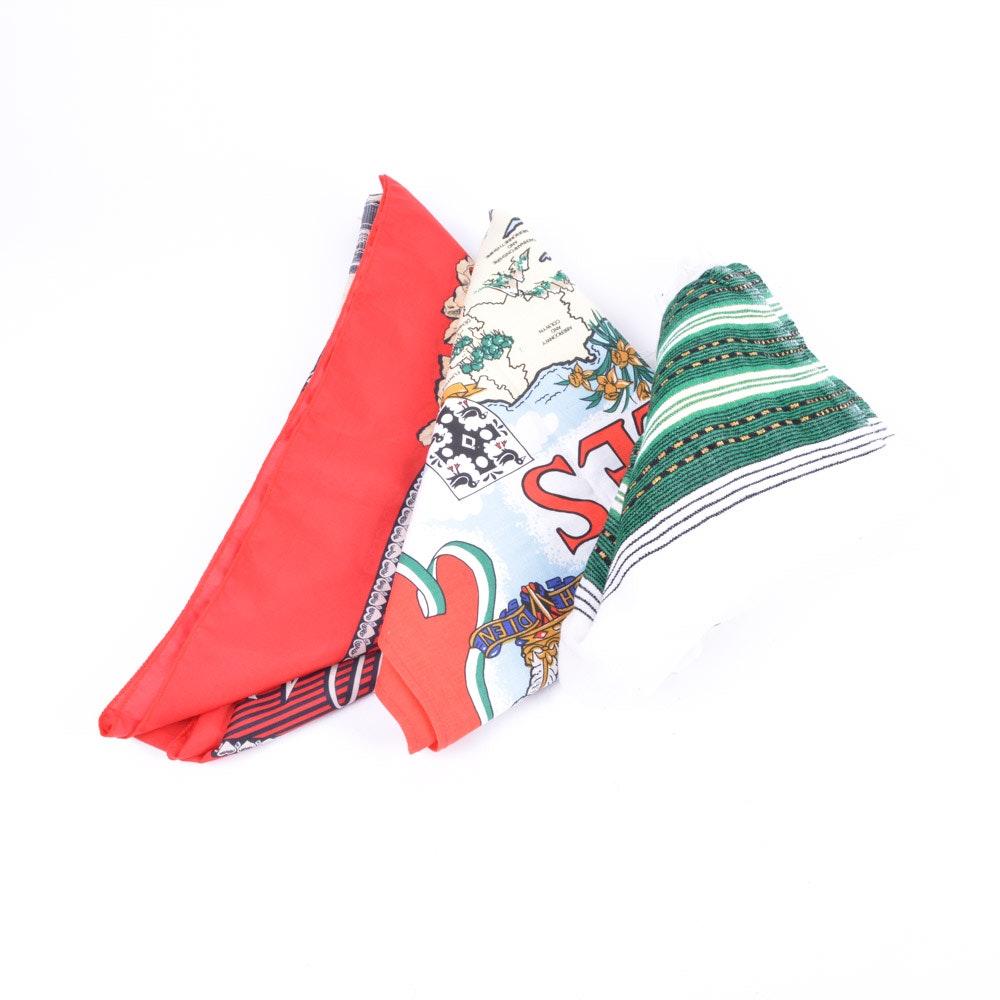Vintage Souvenir Scarves