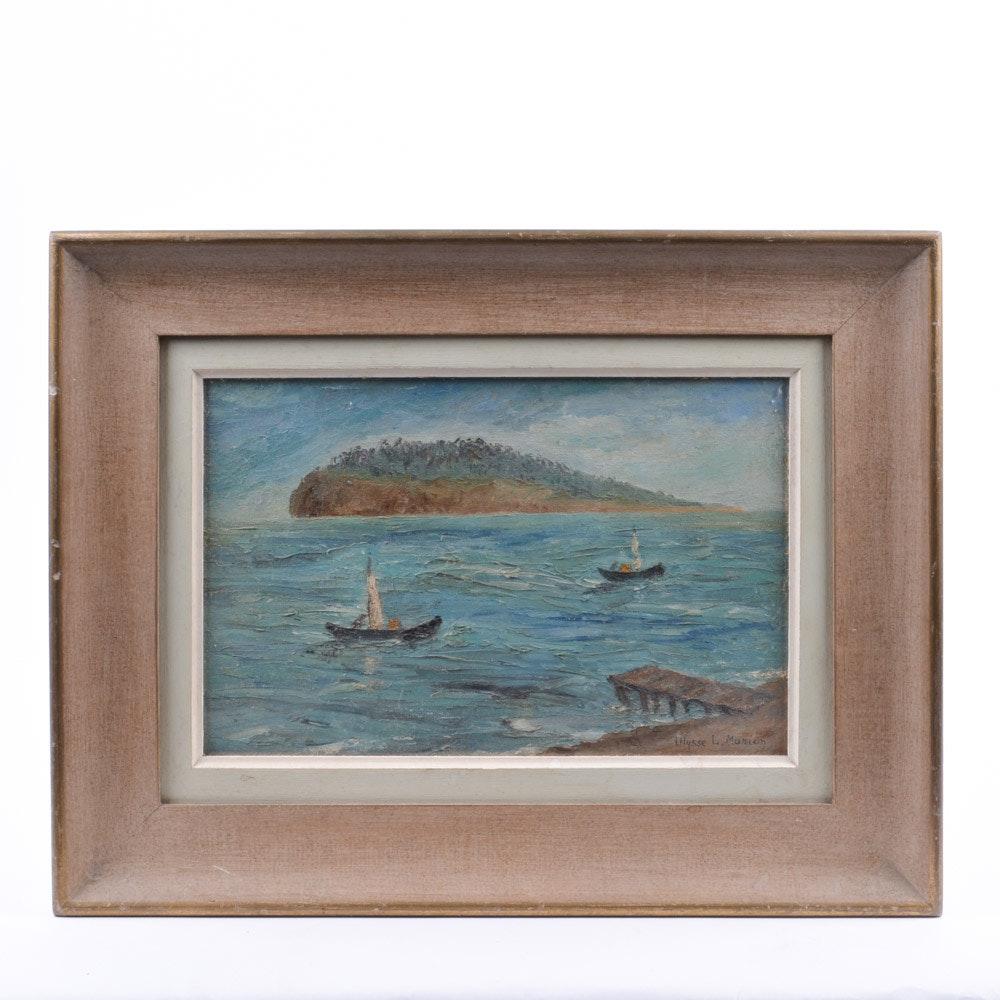 "Ulysse L. Marion ""Bird Sanctuary"" Oil Painting"