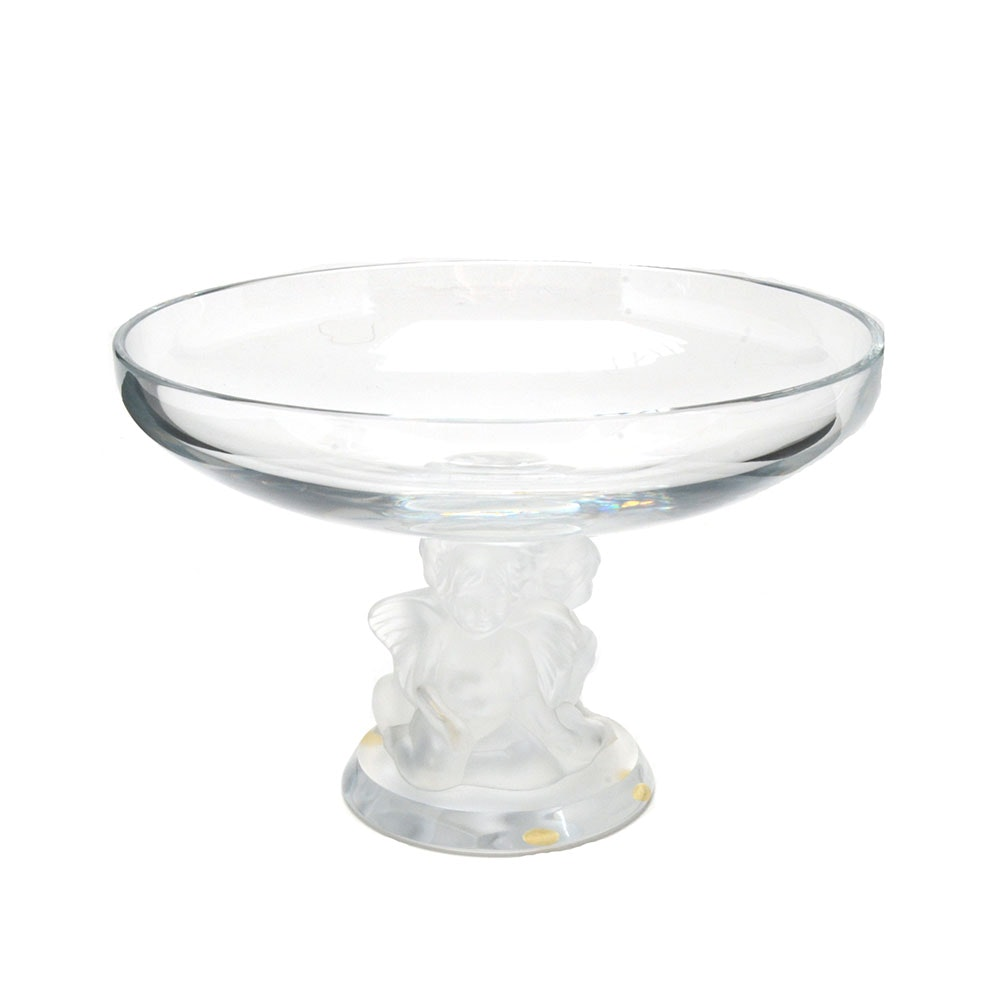 Lalique Cherub Footed Compote