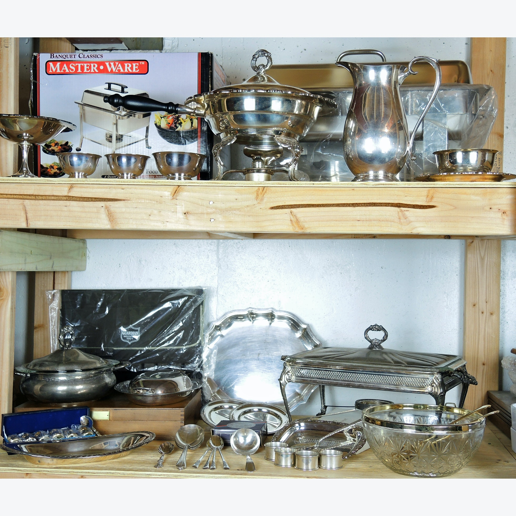 Silver Plate Serving Dishes, Buffet and Tableware Collection