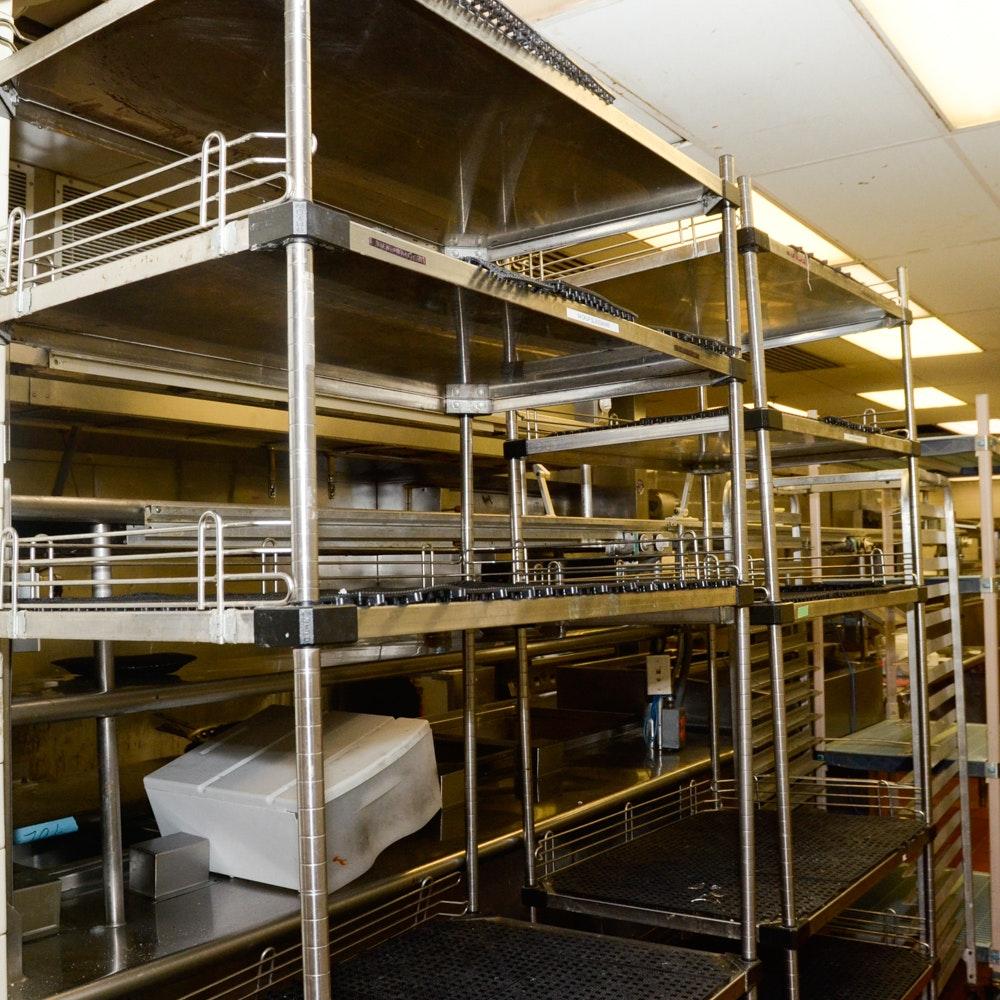 Restaurant Kitchen Racks restaurant equipment auction | vintage restaurant equipment : ebth