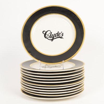 "12 ""Clyde's"" Dinner Plates"