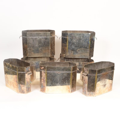 Nine Silver Plated Ice Buckets