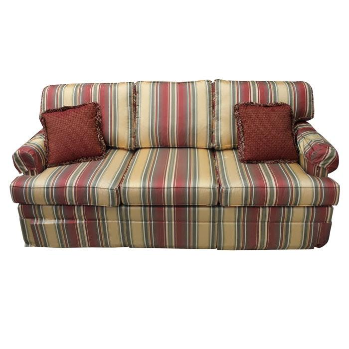 Ethan Allen Striped Sofa ...
