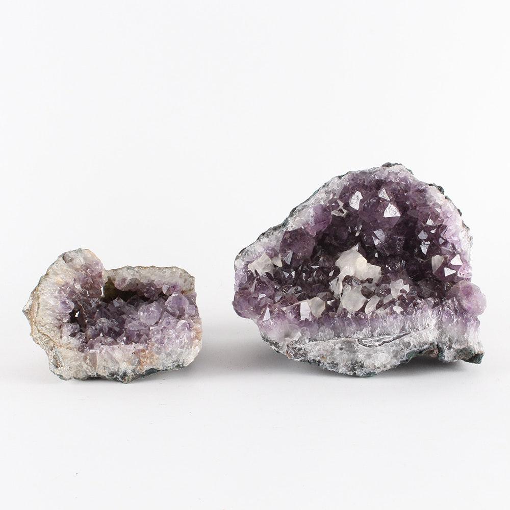 Pair of Amethyst Geodes