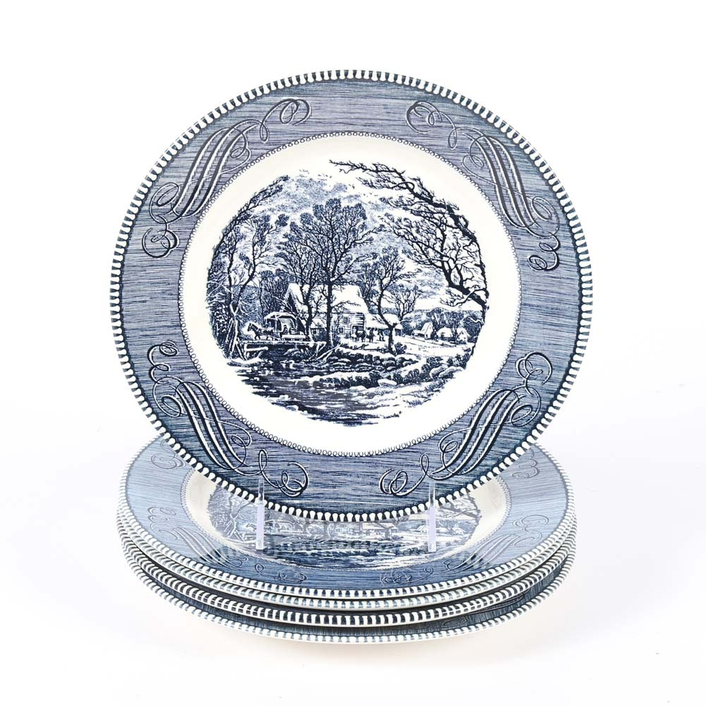 """Royal China """"Currier and Ives"""" Plates"""