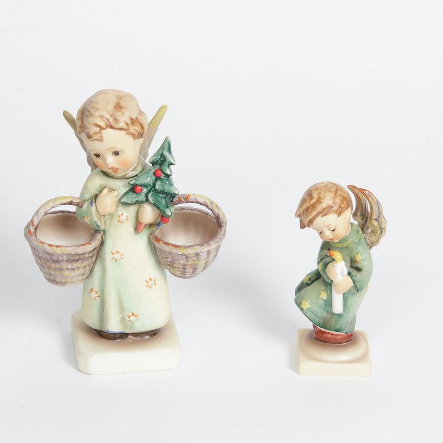 heavenly angel and christmas angel goebel hummel figurines