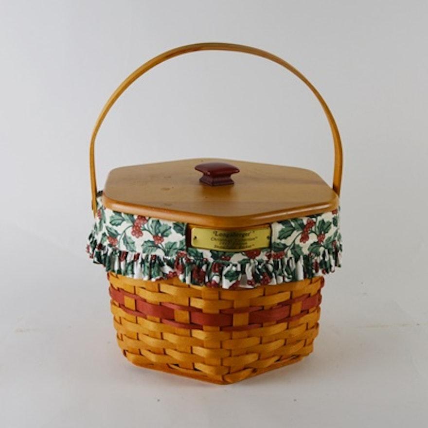 Longaberger Christmas Basket.Longaberger Christmas Collection 1997 Edition Snowflake Basket