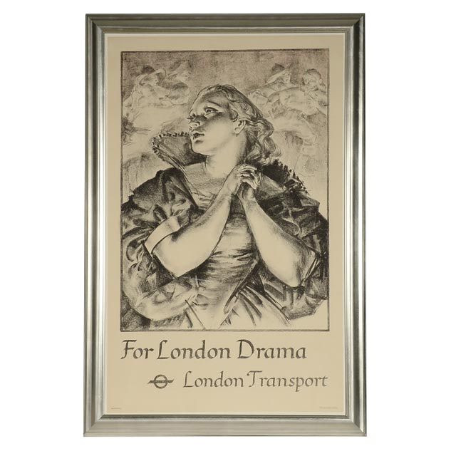 "James Ardern Grant Stone Lithograph London Transport Poster ""For London Drama"""