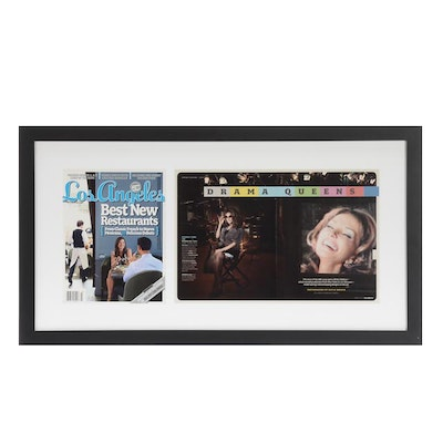 Framed Display of Susan Lucci Feature in Los Angeles  Magazine