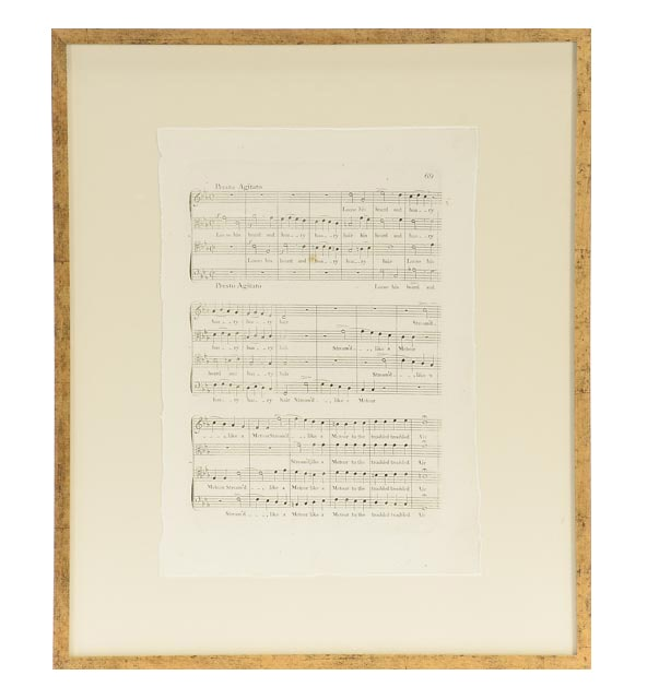 Four Framed Giclees of Antique Sheet Music