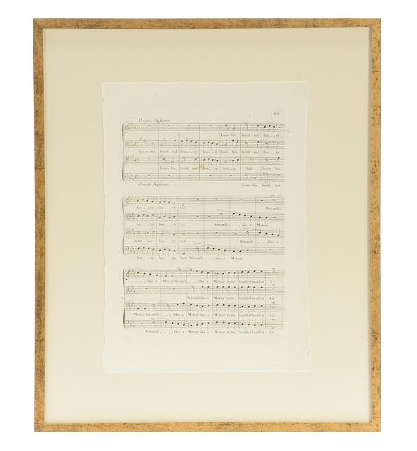 Four Framed Giclees of Antique Sheet Music