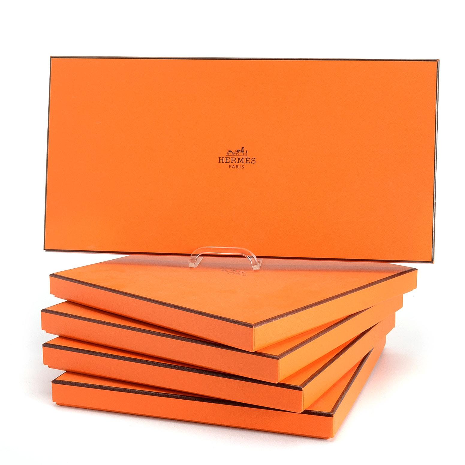 Hermès Flat Scarf Boxes