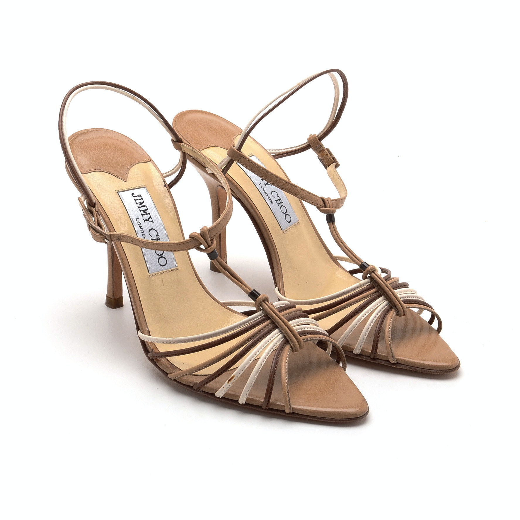 Jimmy Choo of London Strappy Leather Open Toe Dress Sandals