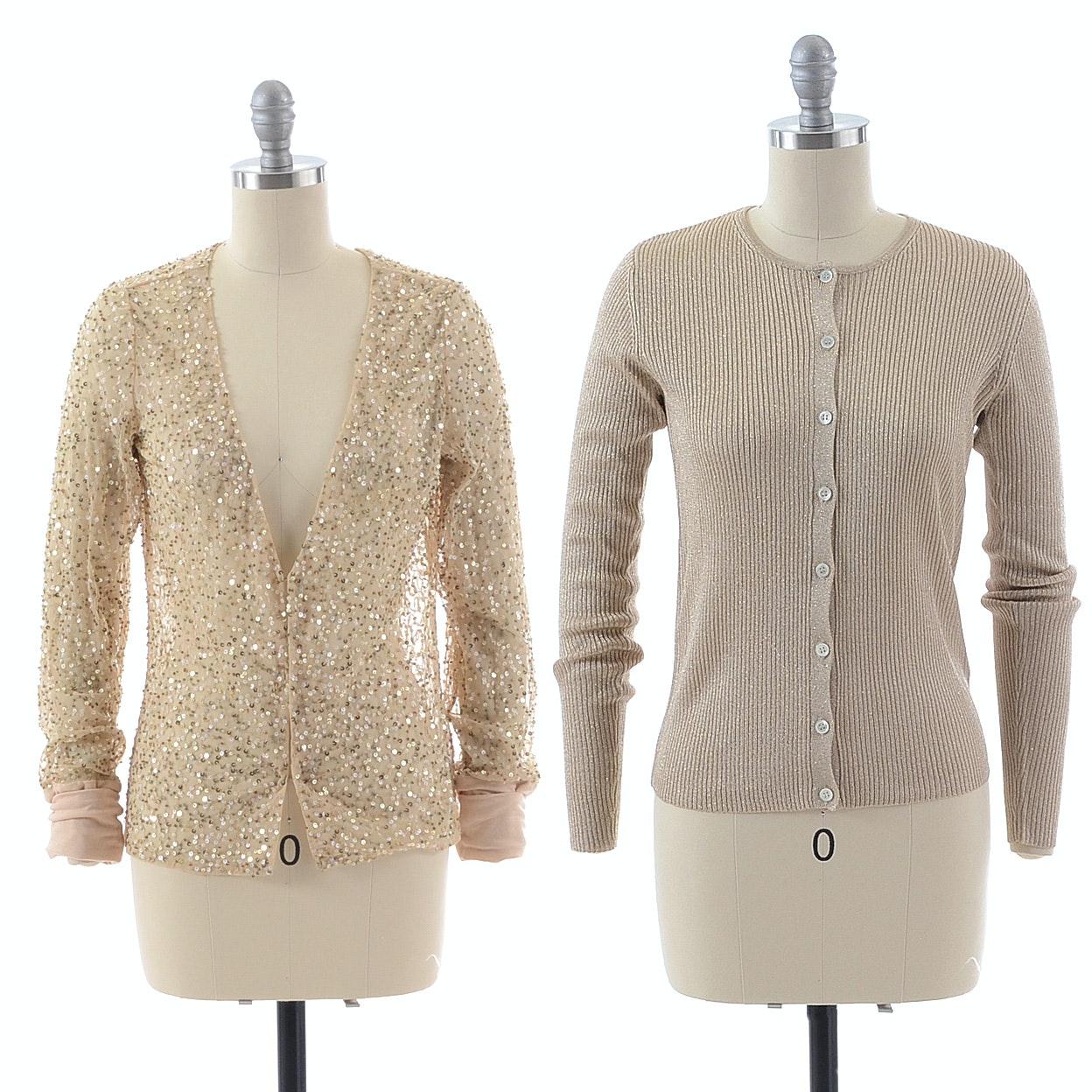 Gold Cardigan Sweaters
