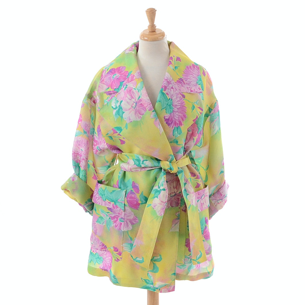 Escada by Margaretha Ley Oversized Silk Trench