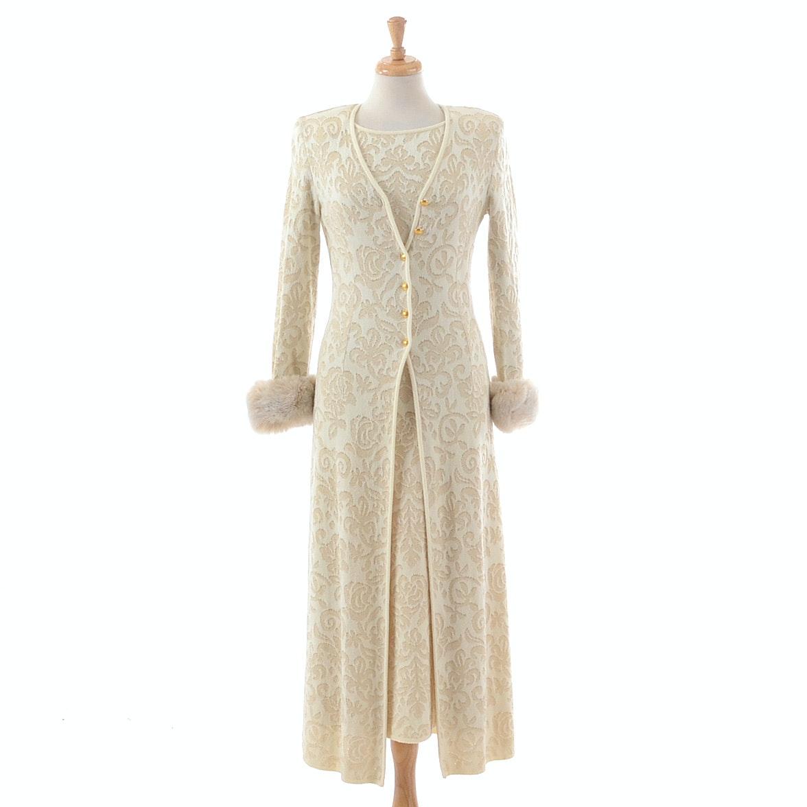 Escada by Margaretha Ley Knit Long Dress and Cardigan