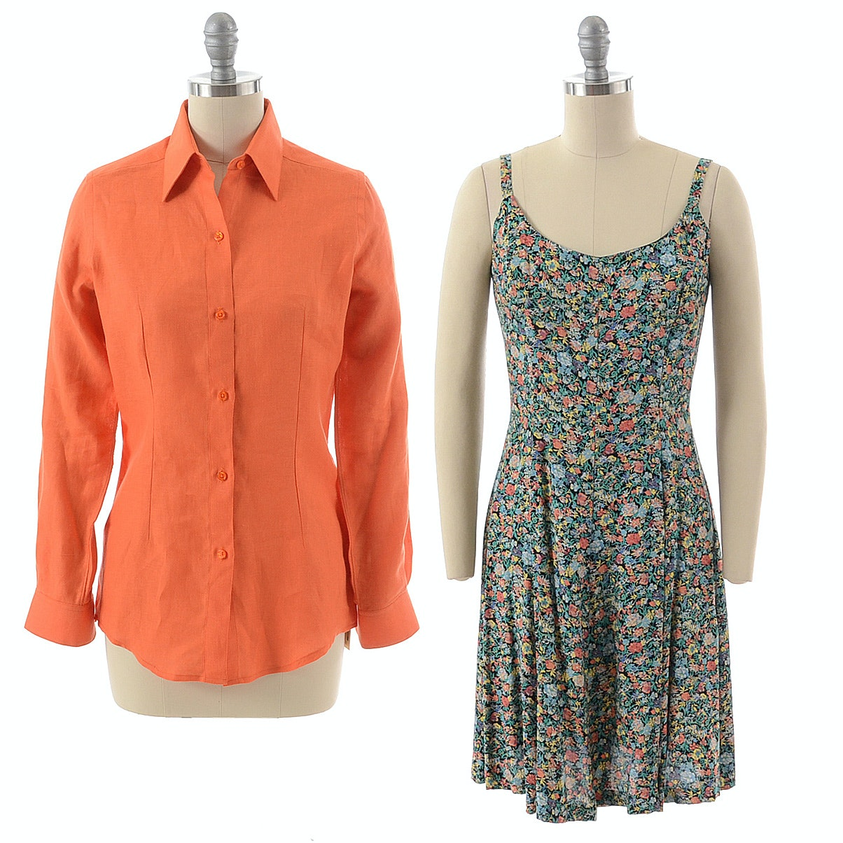 Steven Stolman Shirt and Elizabeth Wayman Dress