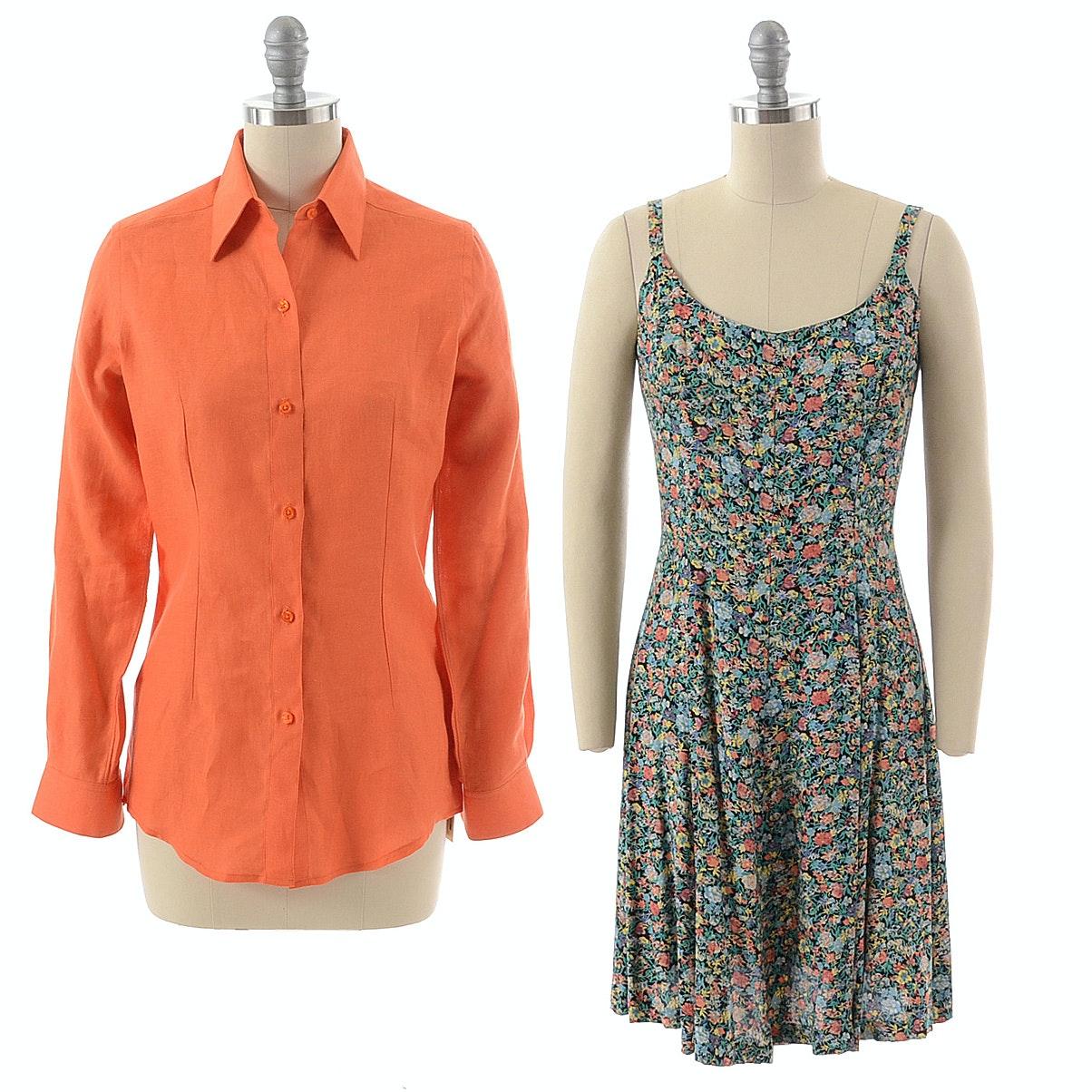 Steven Stolman Shirt and Elizabeth Wayman Dress