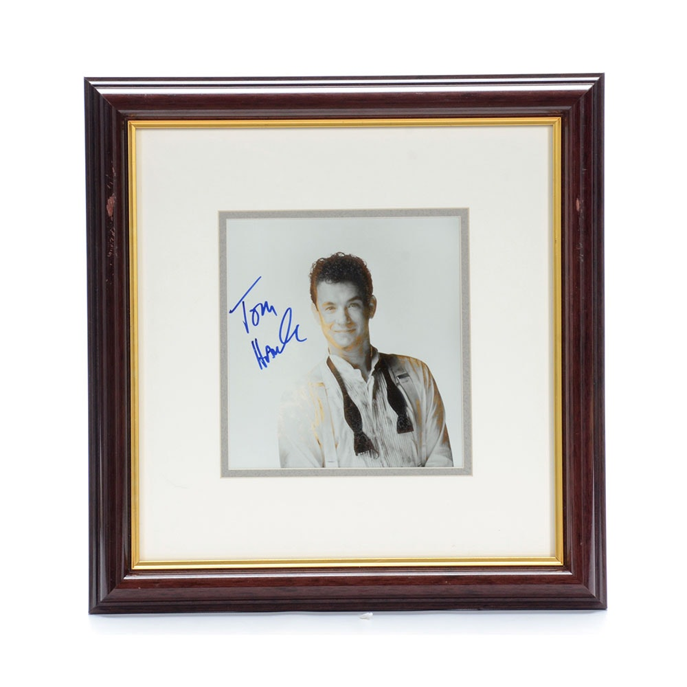 Silver Gelatin Photo of Tom Hanks Autographed  Visual COA