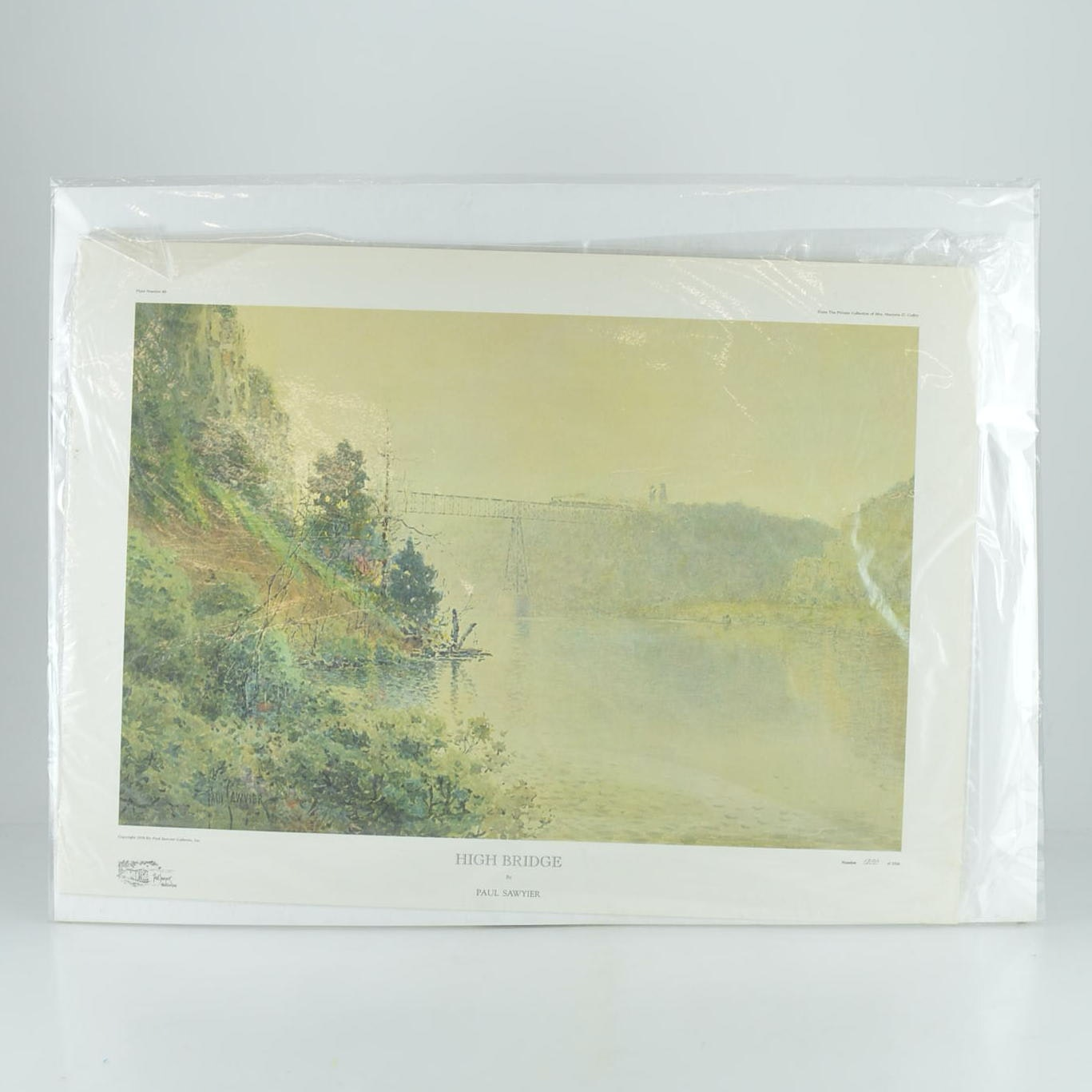 "Paul Sawyier Limited Edition Offset Lithograph ""High Bridge"""