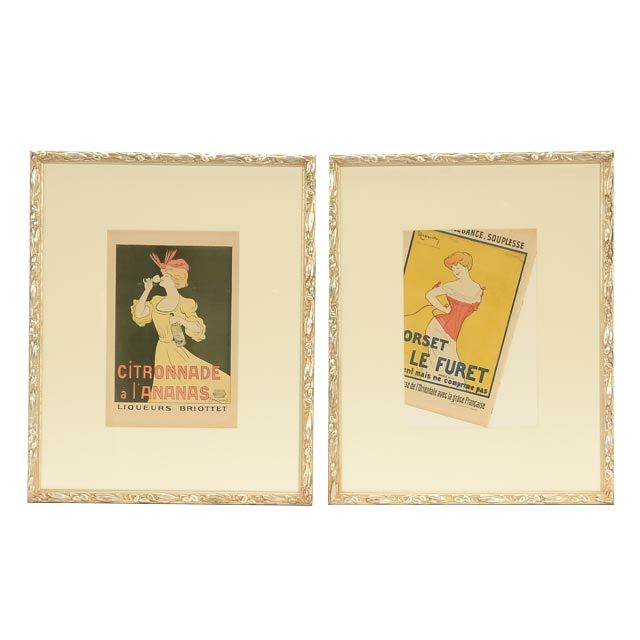 Pair of Leonetto Cappiello Original Vintage French Advertisements