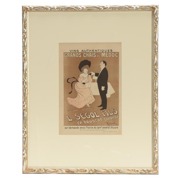 """Leonetto Cappiello Antique Advertisement """"L. Segol Fils"""""""