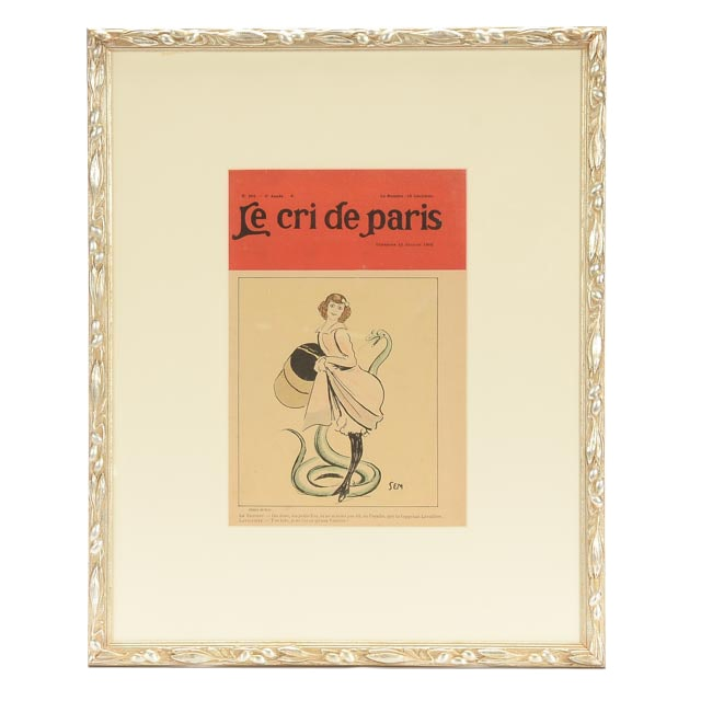 Framed 1902 Cover of Le Cri de Paris