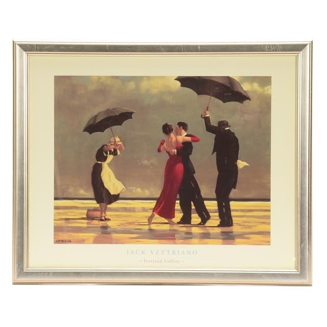 Offset Lithographic Reproduction after Jack Vettriano