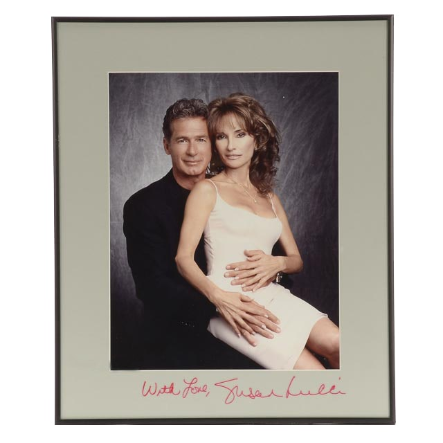 Framed Photo of Jack Scalia and Susan Lucci with Lucci Autograph